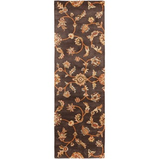 Hand-tufted Hornsby Brown Wool Rug