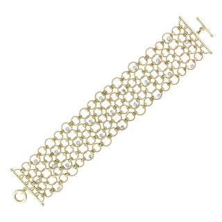 Miadora 14k Yellow Gold 3/5ct TDW Diamond Bracelet (G-H, SI1-SI2)