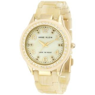 Anne Klein Women's Steel Gold Resin Strap Watch