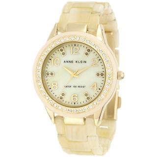 Anne Klein Women's Steel Gold Resin Strap Watch