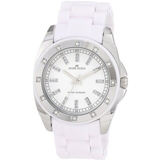 Anne Klein Women's White Plastic Watch