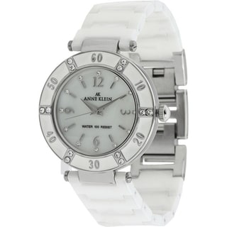 Anne Klein Women's White Ceramic Watch