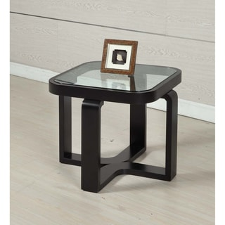 Square Black Finish Lamp Table