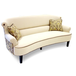 iKat Cream Curved Back Sofa