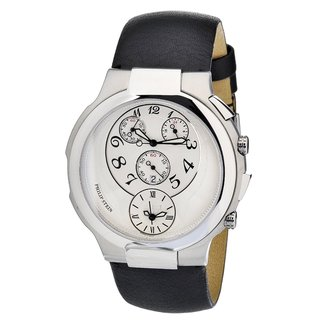 Philip Stein Women's Stainless Steel Dual-time Chronograph Watch