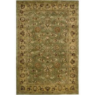 Nourison Hand-tufted Wool Jaipur Green Rug