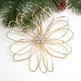 Beaded Snowflake Ornament (India)