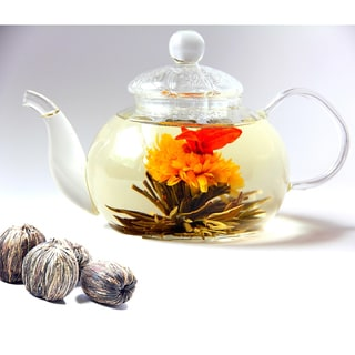 Tea Beyond BON Tea Pot and Premium Blooming Tea Gift Set