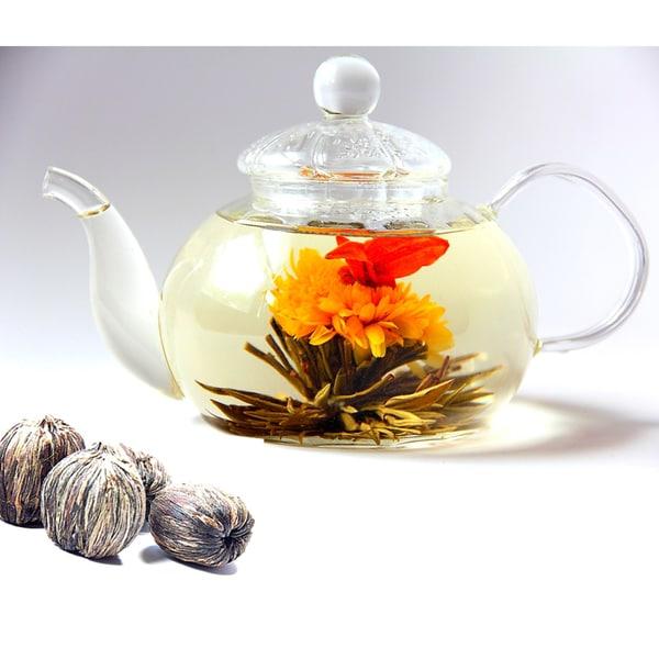 Tea Beyond BON Tea Pot and Premium Blooming Tea Gift Set