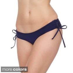 American Apparel Nylon Tricot Ruched Side-tie Bikini Bottom