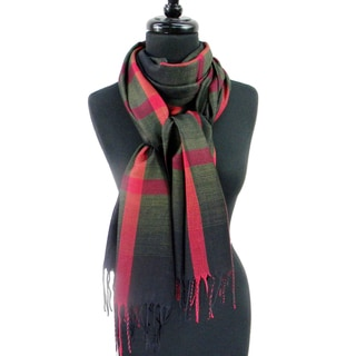 Large Plaid Pashmina Fringed Fashion Scarf