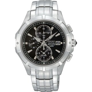 SEIKO Men's Coutura Black Dial Stainless Chrono Watch