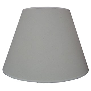 White Hardback Linen Fabric Empire Lampshade
