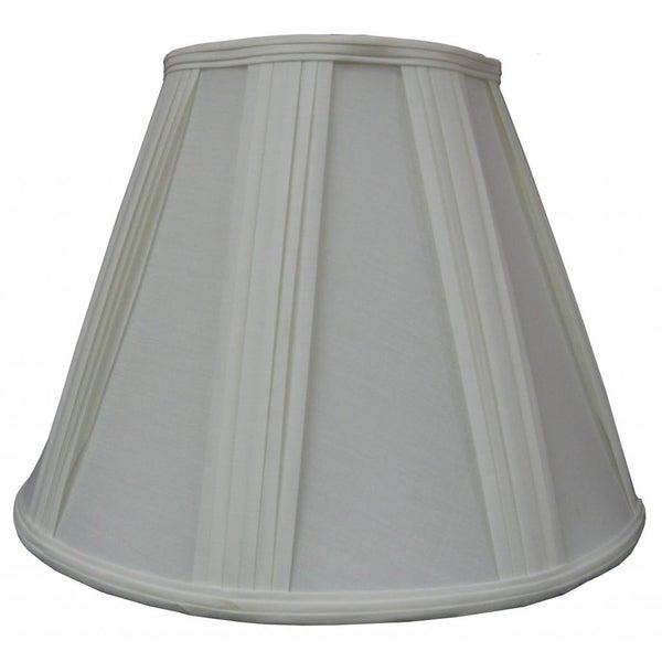 White Fabric Pleated Lamp Shade