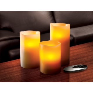 Sarah Peyton 3-piece Flameless LED Candle Set with Remote