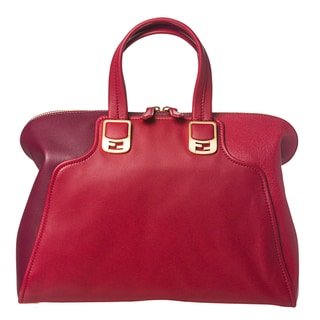 Fendi Women's Two-Toned Cherry Chameleon Satchel