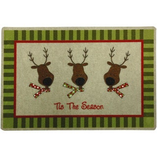 Outdoor Reindeer Holiday Doormat