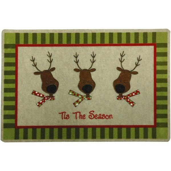 Outdoor Reindeer Holiday Doormat