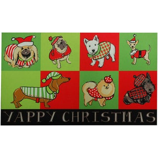 Outdoor Yappy Dog Christmas Doormat