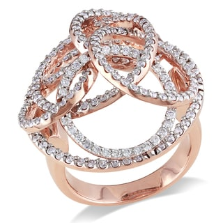 Miadora 14k Gold 1 3/5ct TDW Diamond Multi-circle Ring (H-I, SI1-SI2)