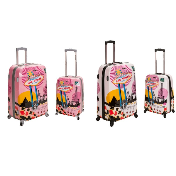 Rockland Las Vegas 2-piece Lightweight Hardside Spinner Luggage Set