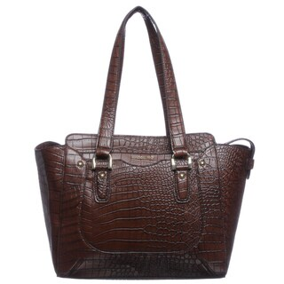 London Fog 'Baron' Leather East/ West Tote Bag
