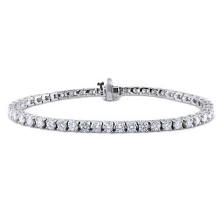 Miadora 18k White Gold 4 1/2ct TDW Diamond Tennis Bracelet (G-H, I1-I2)