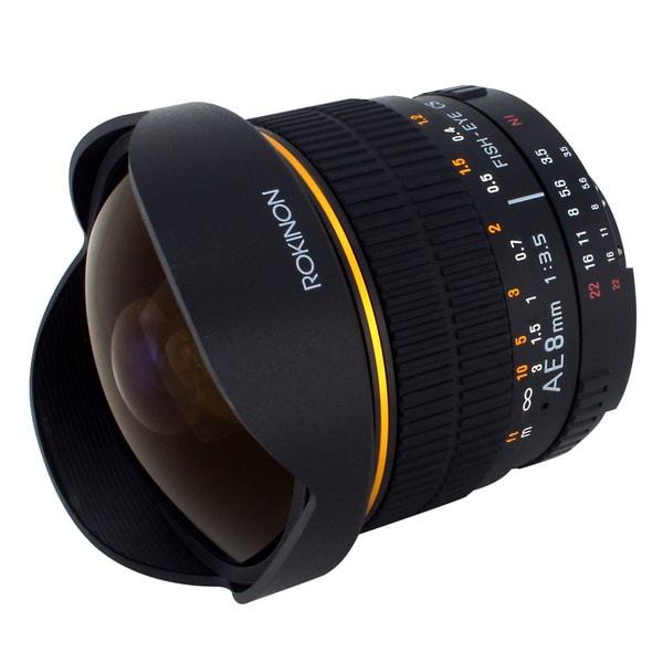 Rokinon AE8M-N 8mm f/3.5 Aspherical Fisheye Lens for Nikon AE w/Automatic Chip