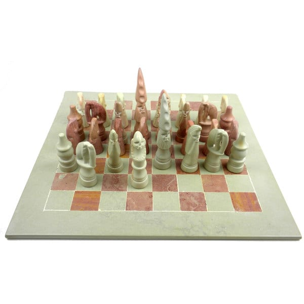 Handmade Decorative 14-inch Maasai Chess Set (Kenya)