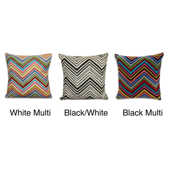 Thro Chevron Zig-zag Decorative Pillow