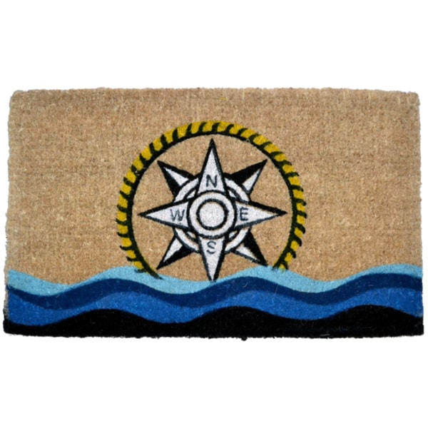 Sea-themed Compass Door Mat