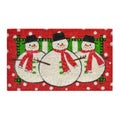 Three Snowmen Door Mat