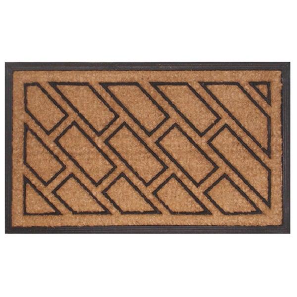 Offset Brick Pattern Door Mat