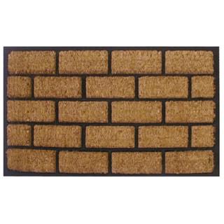 Linear Brick Pattern Door Mat