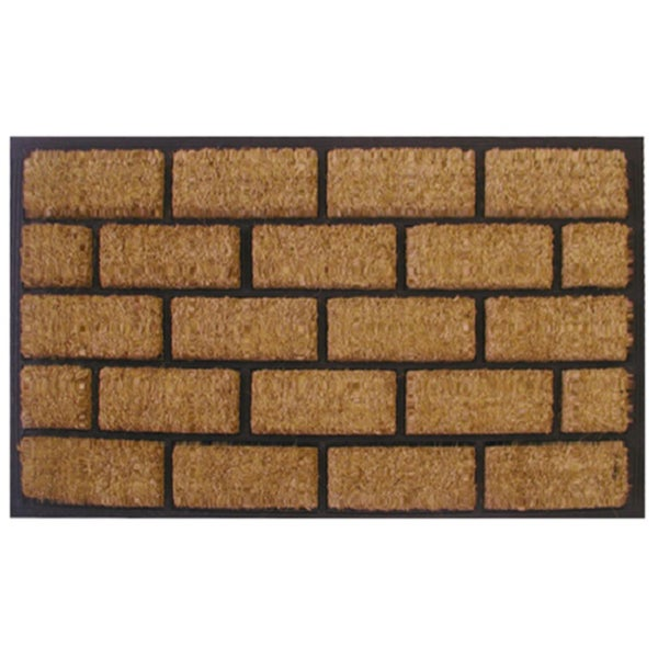 Linear Brick Pattern Door Mat