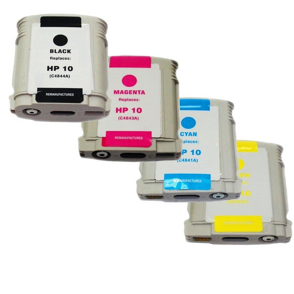 HP 10 KCMY Ink Cartridges (Remanufactured) (4-Pack)