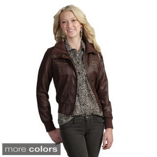 Tabeez Women's Faux Leather Jacket