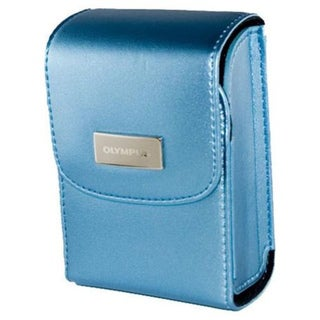 Olympus Satin Metallic Blue Camera Carrying Case with Magnetic Closure