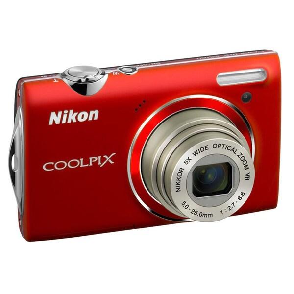 Nikon Coolpix S4100 14MP Red Digital Camera (Refurbished)