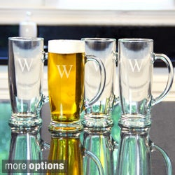 Custom Engraved Craft Beer Mugs (Set of 4)