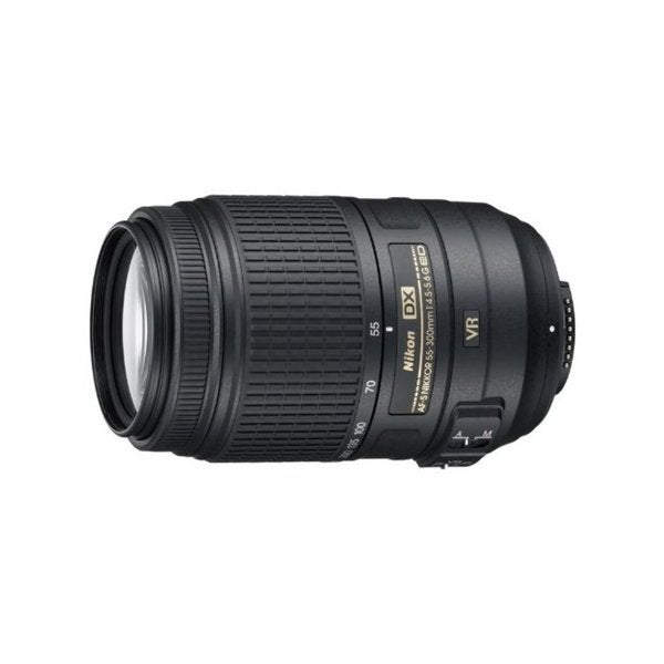 Nikon AF-S NIKKOR 55-300mm f/4.5-5.6G ED VR Lens (New in Non-Retail Package)