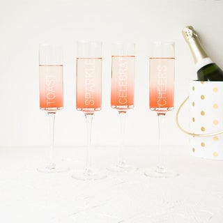 Celebrate! Contemporary Champagne Flutes (Set of 4)