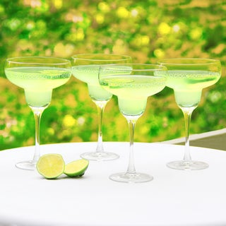 'It's 5 o'clock Somewhere' Margarita Glasses (Set of 4)