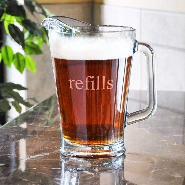 """Refill & Chill' 60-ounce Glass Pitcher"