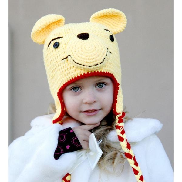 Handmade Pooh Bear Knit Hat