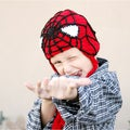 Handmade Red Superhero Knit Hat
