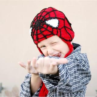 Handmade Red Superhero Knit Hat