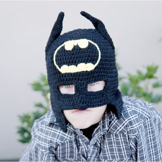 Handmade Superhero Knit Hat and Cowl