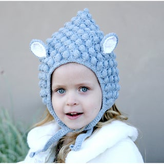 Knitnut Handmade Grey Lamb Knit Hat