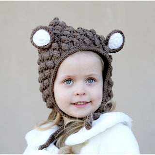 Knitnut Handmade Brown Bear Knit Hat